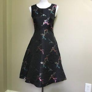 61b739fee5664 NWT COEUR de VAGUE floral Fit-n-flare dress 2 M